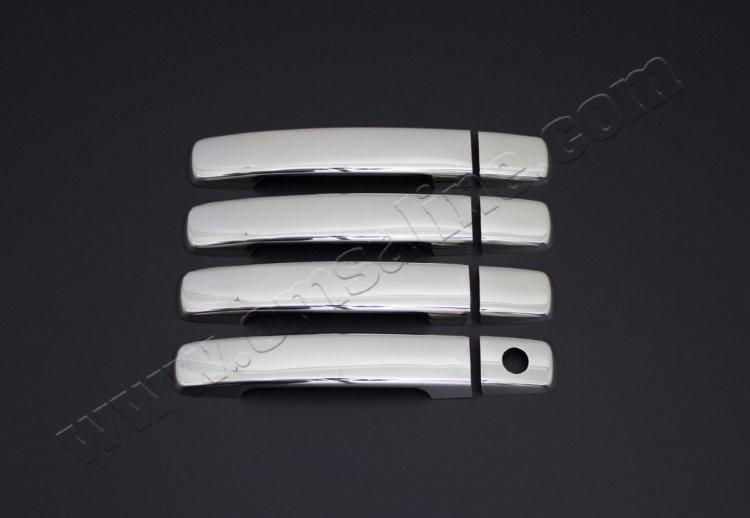 Накладки на Дверные ручки (нерж.) 4-двери на Ниссан Кашкай (Nissan Qashqai J10 с 2007-2014)