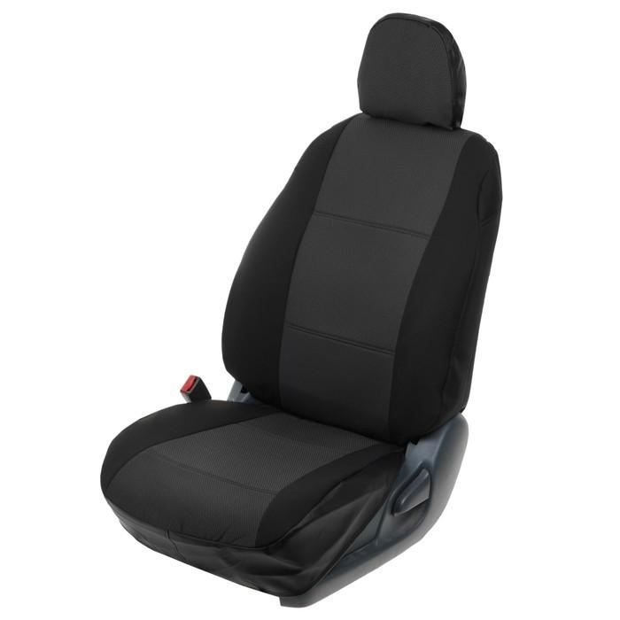 Автомобильные Чехлы из Тканевые (Жаккард) для Ниссан Террано (рестайлинг с 2016-)  (Nissan Terrano III (c airbag)