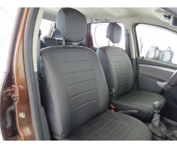 Автомобильные Чехлы из экокожи комплект для Ниссан Террано рестайлинг (Nissan Terrano (2016-)