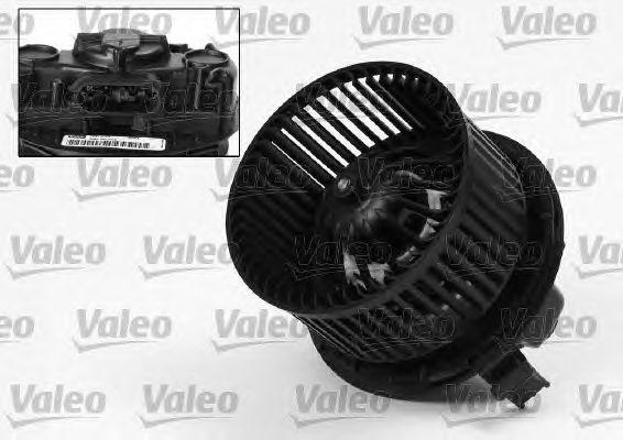 Мотор вентилятора отопителя салона в сборе (VALEO) Nissan Note / Mikra K12 / Almera G15 без конд.